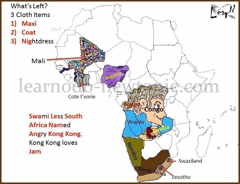 Learn The Map of Africa Easily By Watching This Video | Learnodo