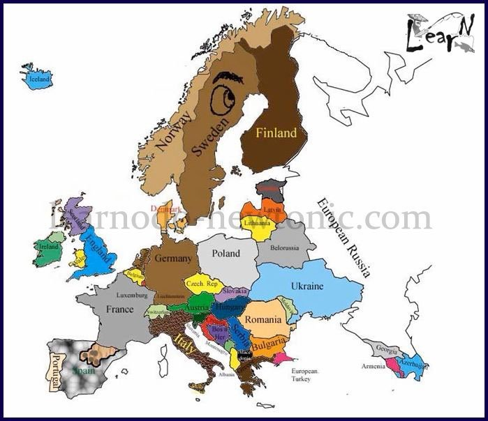Learn the Map of Europe through Fin