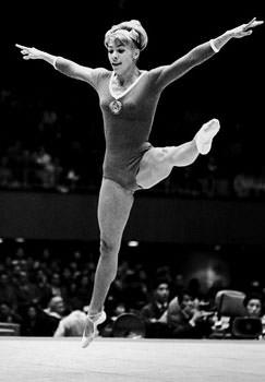 Larisa Latynina on the floor