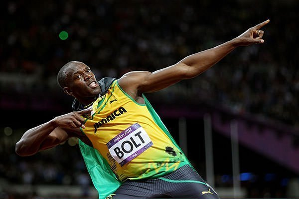 Usain Bolt Lightning Bolt Pose