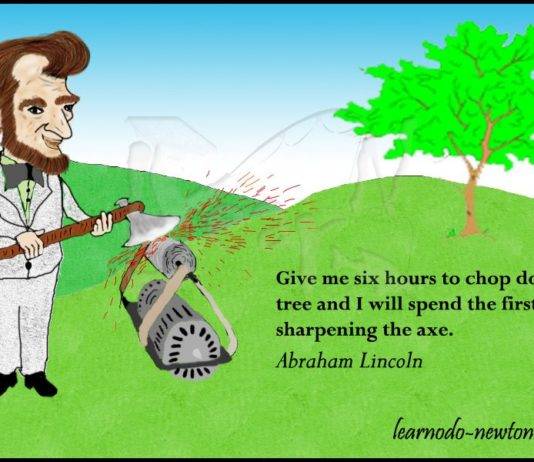 Abraham Lincoln quote | Give me six hours...