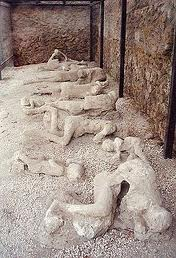 Casts of victims at Pompeii
