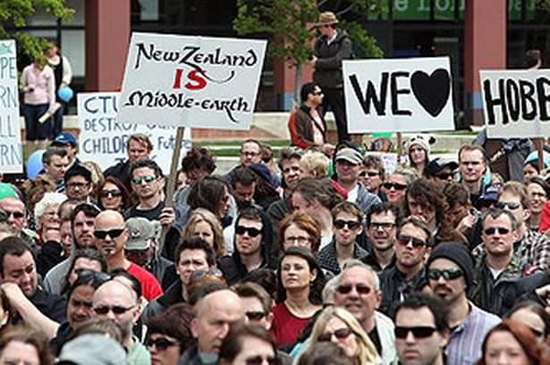 New Zealand Hobbit Protests