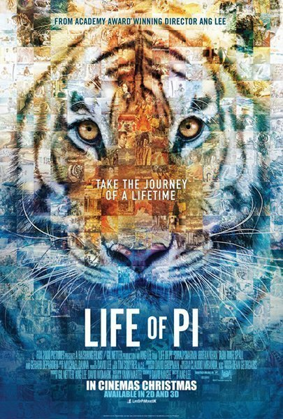 10 best movie posters 2012 - Life of Pi