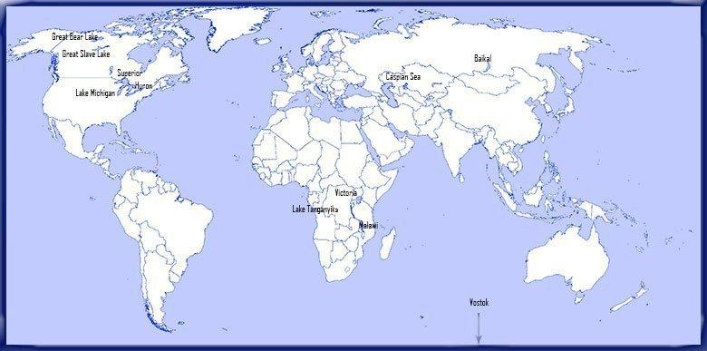 10 biggest lakes World Map