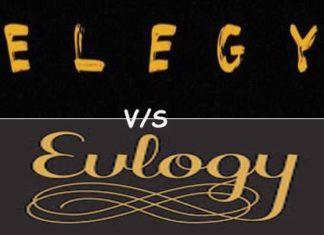Elegy vs Eulogy