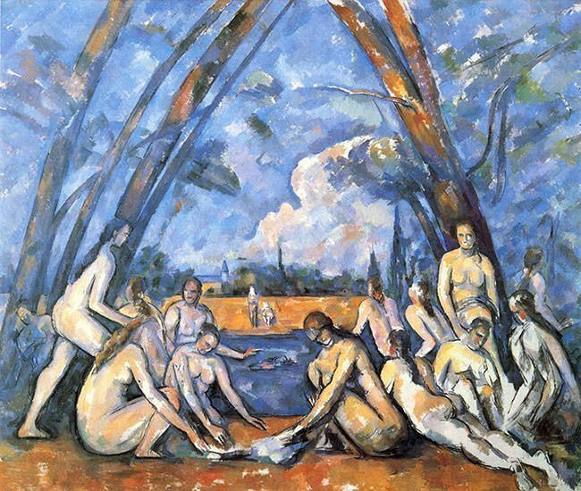The Bathers by Paul Cazanne