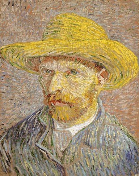Van Gogh Self-Portrait with Straw Hat