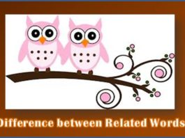 Difference between words featured 2