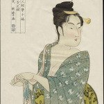 A print from the Ten Studies in Female Physiognomy by Kitagawa Utamaro