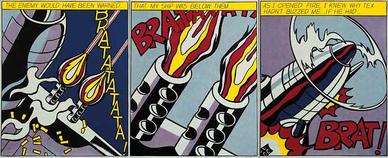 As I Opened Fire by Roy Lichtenstein