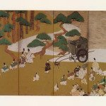 Painting of the chapter Miotsukushi from The Tale of Genji by Tawaraya Sotatsu