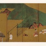 Painting of the chapter Sekiya from The Tale of Genji by Tawaraya Sotatsu