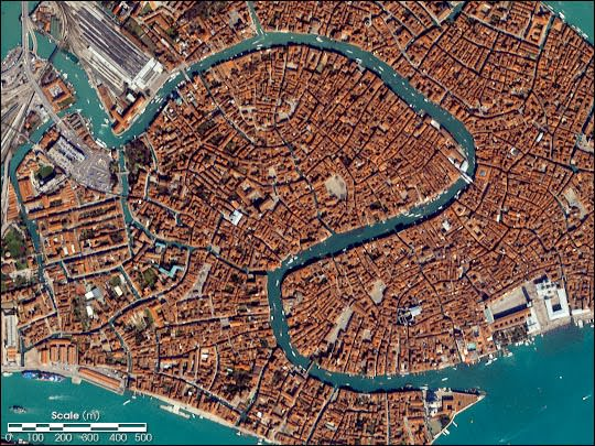 The Reverse S Shaped Grand Canal in Venice