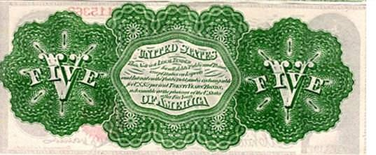 A greenback note