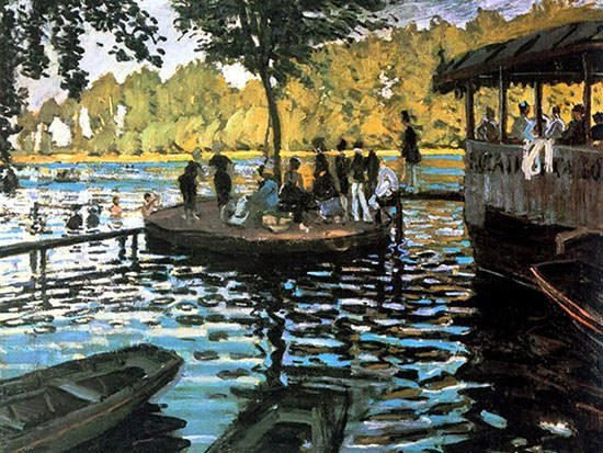 Bain a la Grenouillere (1869) - Claude Monet