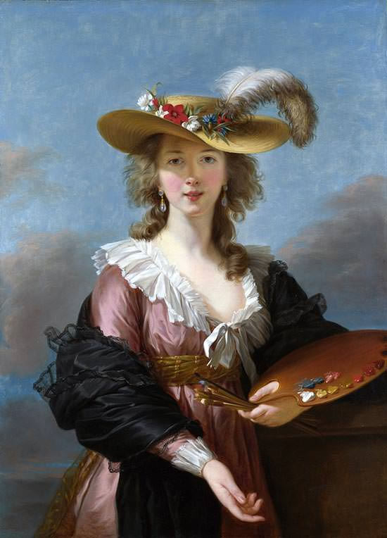 Self-Portrait in a Straw Hat (1782)