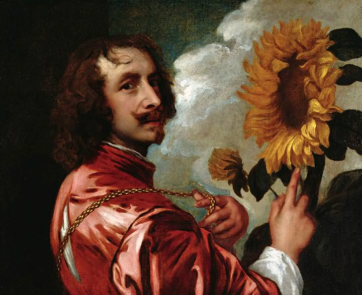 Self-Portrait with a Sunflower (1641)
