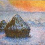 Wheatstacks (Sunset, Snow_Effect)
