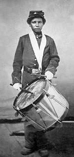 African American Drummer Boy in Civil War
