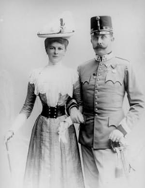 Franz Ferdinand and his wife Sophie