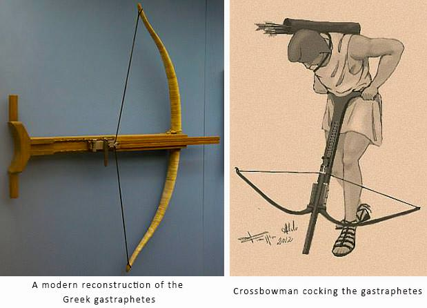Gastraphetes - Ancient Greek Crossbow
