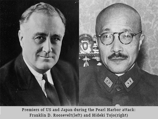 Franklin.D.Roosevelt and Hideki Tojo