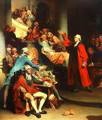 Patrick Henry's Treason Speech: Painting by Rothermel
