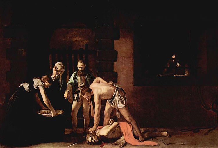 The Beheading of Saint John the Baptist (1608) - Caravaggio