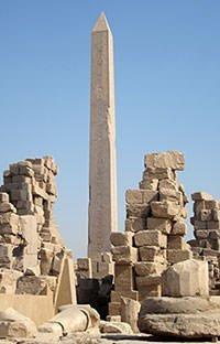 Karnak Tempel Obelisk