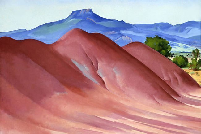 Red Hills with the Pedernal (1936)