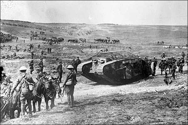 A tank at the Battle of the Somme