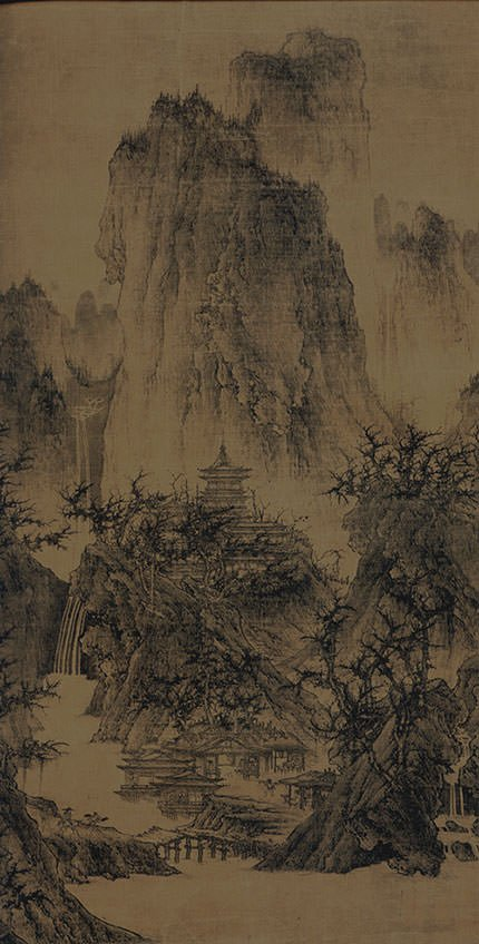 A Solitary Temple Amid Clearing Peaks - Li Cheng