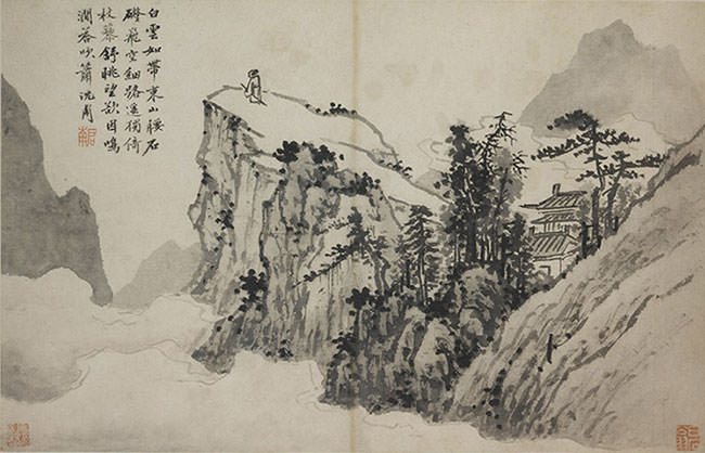Poet on a Mountaintop - Shen Zhou