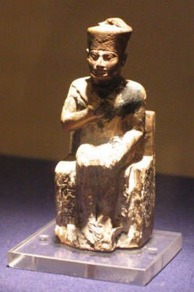 Khufu Statuette at Egyptian Museum in Cairo