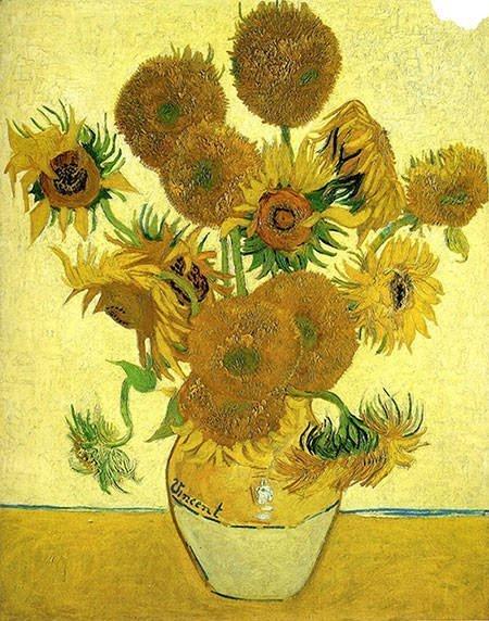 Vase with Fifteen Sunflowers - Vincent Van Gogh