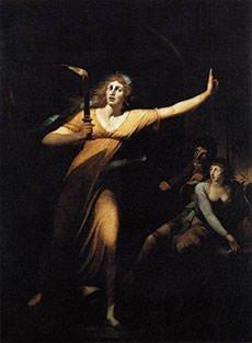 Painting of The Sleepwalking Lady Macbeth