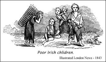 Poor Irish children