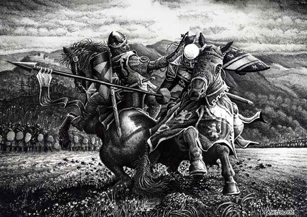 Robert the Bruce and Henry de Bohun Duel Painting