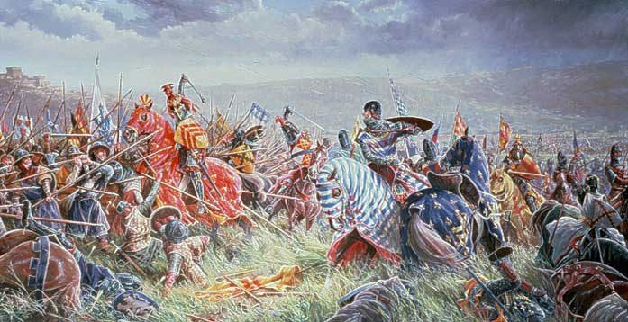 Battle of Bannockburn Painting