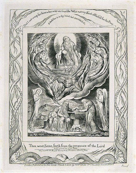 Book of Job Illustration by Blake