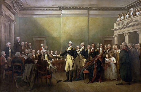 George Washington resigning after American Revolution
