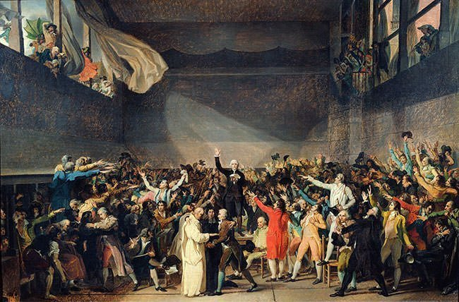 Tennis Court Oath Painting