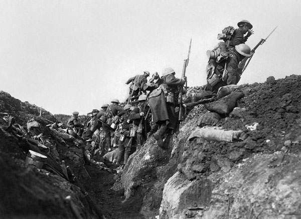British soldiers in the Battle of the Somme