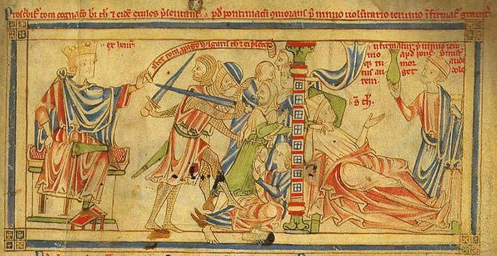 Henry II exiles Thomas Becket