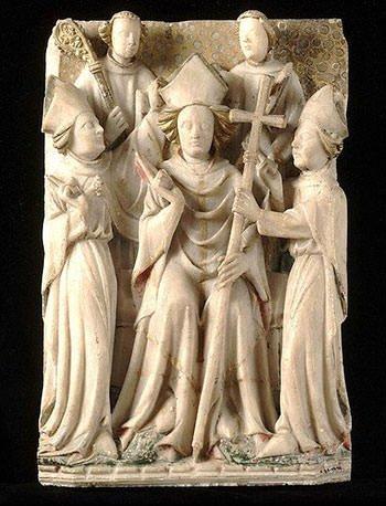 Thomas Becket enthroned as Archbishop of Canterbury