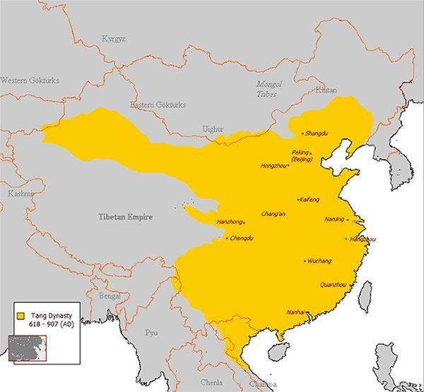 Tang Dynasty Area Map
