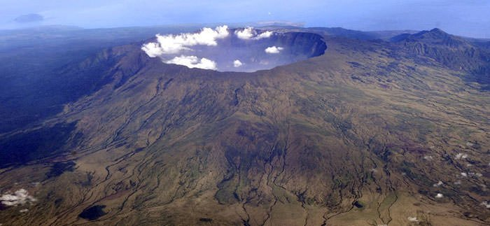 Aerial view of Mount Tambora