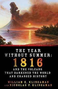 Cover of book on Mount Tambora eruption