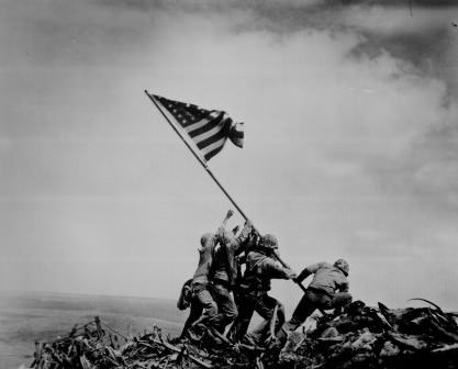 Raising the Flag on Iwo Jima photograph